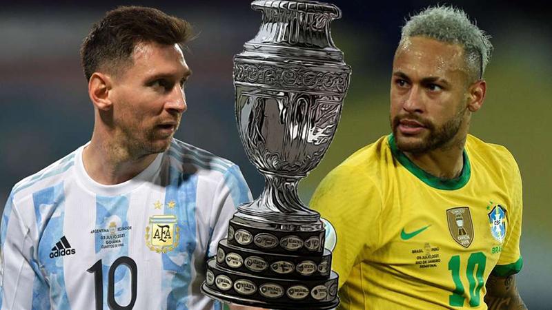 Argentina Vs. Brazil In The Copa America Final In 2021